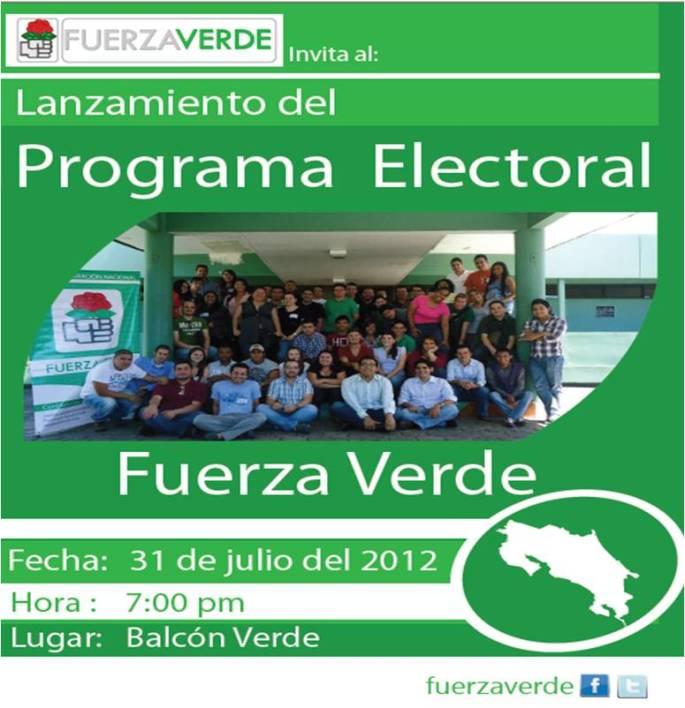 Lanzamiento del Programa Electoral de Fuerza Verde