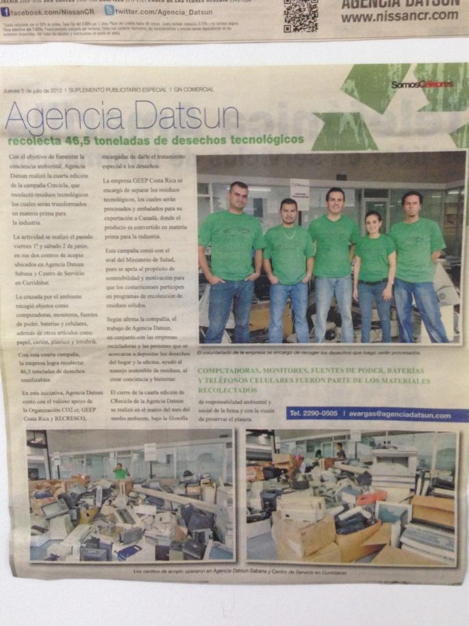 Somos Célebres de La Nación, 5 de julio de 2012.