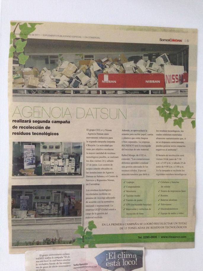 Suplemento Somos Célebres de La Nación, 23 de junio de 2011.