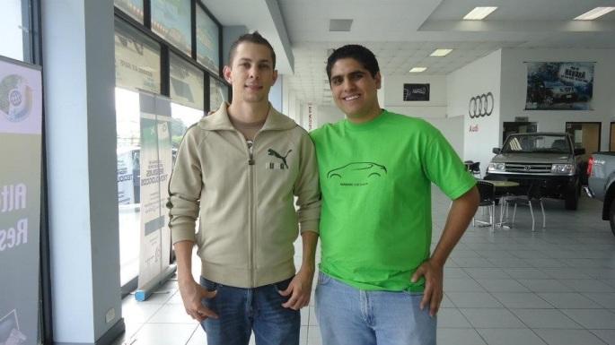 Con el ingeniero Marcos Fernández, quien ahora está encargado de la gestión de residuos de Agencia Datsun y con quien seguiré trabajando en los próximos CRecicla.