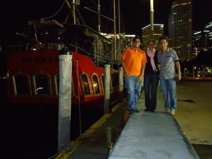 Con José Daniel Wilches y Ana Lucrecia Vargas en una capacitación de Nissan en Miami