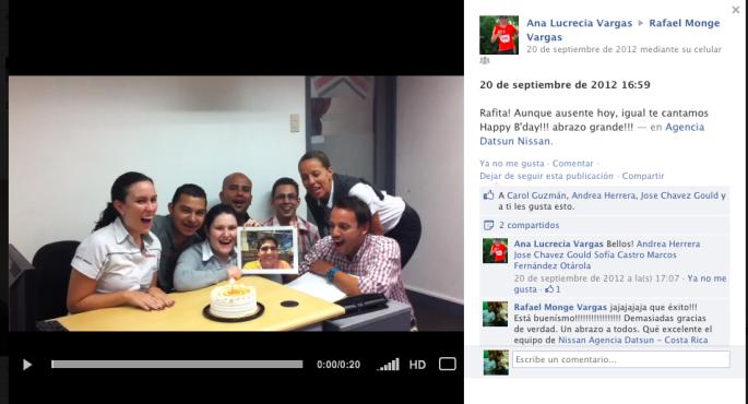 Demasiado bueno este video que me hicieron para mi cumpleaños. Excelentes cantantes Ana Lu, Andrea, William, Mario, Sofi, Marcos y José!!!