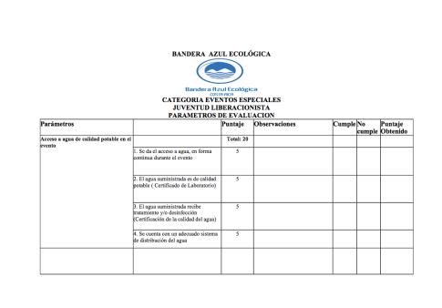 Parámetros de Evaluación #activaciónjoven